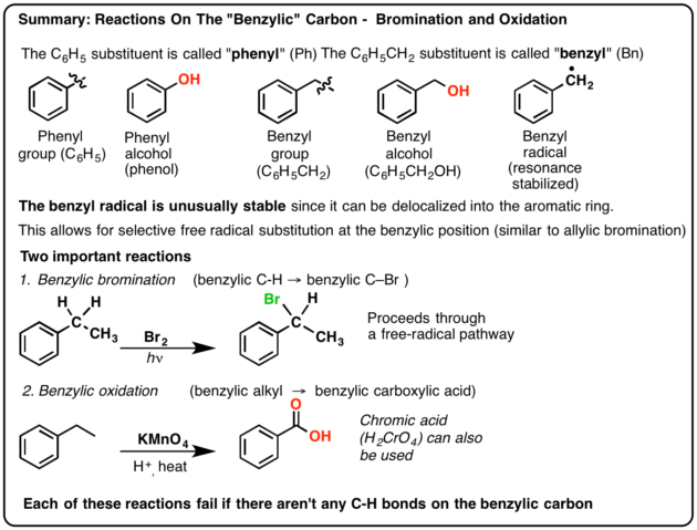 Benzylic Bromination and Benzylic Oxidation – Master Organic