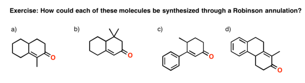 robinson annulation retrosynthesis exercises