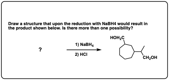 Addition of NaBH4 to aldehydes to give primary alcohols