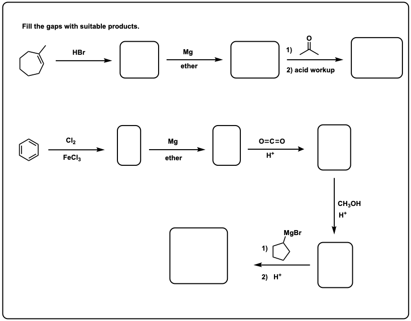 Grignard Practice Problems: Synthesis (1) – Master Organic