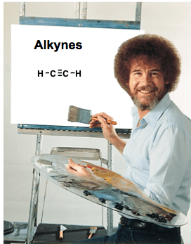 1 bob ross alkynes