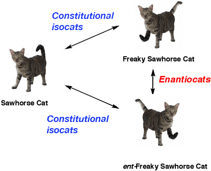 relationship-between-constitutional-isocats-and-enantiocats
