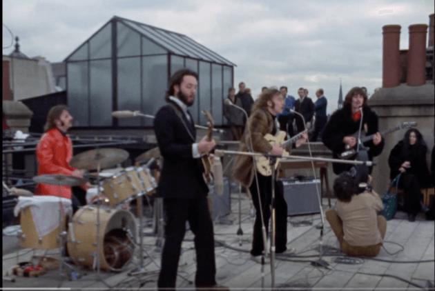 screen shot of beatles 1969 rooftop concert celebrating Brownlees report on structure determination of deer tarsal gland pheromone