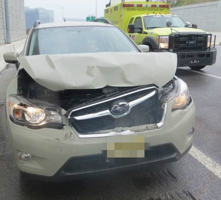 that time my truck was rear ended by a rental car and the rental car got the worst of it