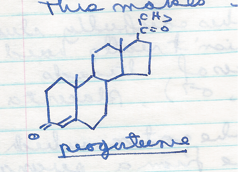 hand-drawing-of-progesterone