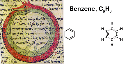 kekule structure of benzene snake eating own tail