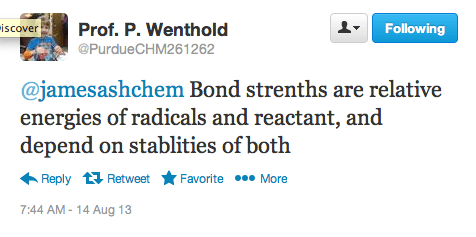 bond-strengths-are-relative-energies-of-radicals-and-reactant-and-depend-on-stabilities-of-both